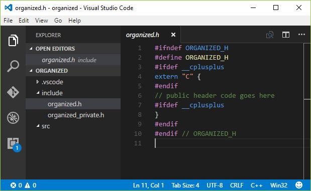 Organized C code – Part 1 – The Headers