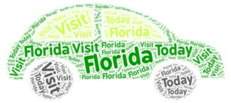 Visit Florida Car Wordart